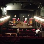 The stage at Charing Cross Theatre
