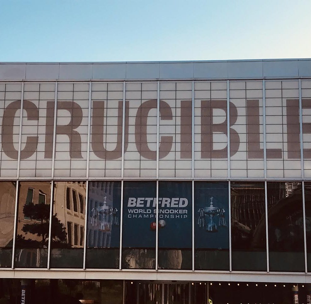 We Were Very Lucky To Shoot Some Of Our Scenes At The Crucible - The Home Of Snooker. We Shot In The Morning Of Final Day At The World Snooker Championship Finals 2018