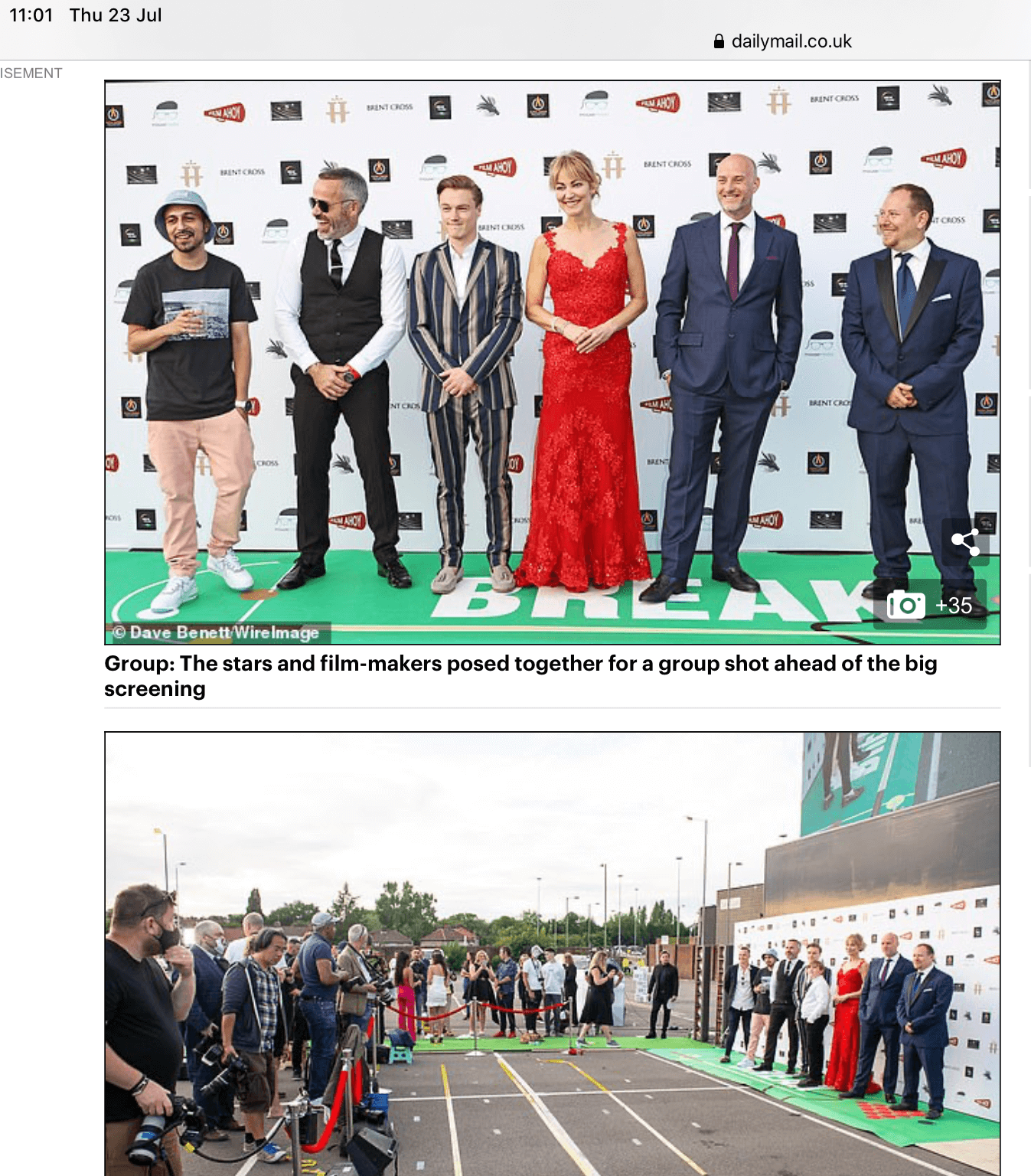 Break World Premiere – Daily Mail Online